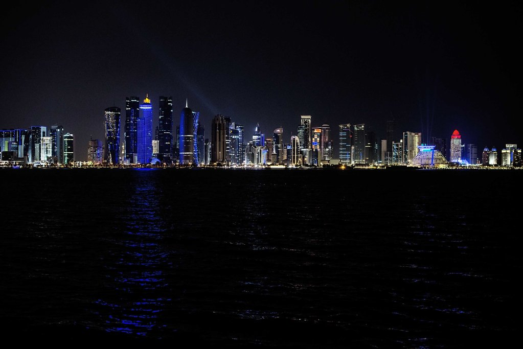 Doha Skyline. 15 years ago, this was all dessert.