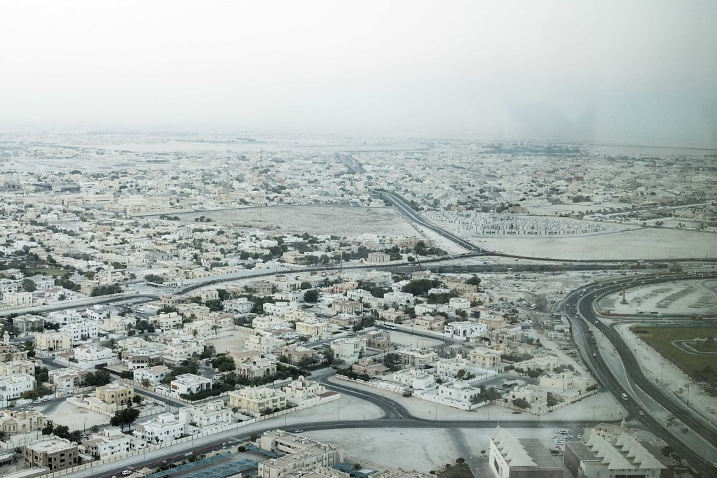 The wealthy suburbs of Doha