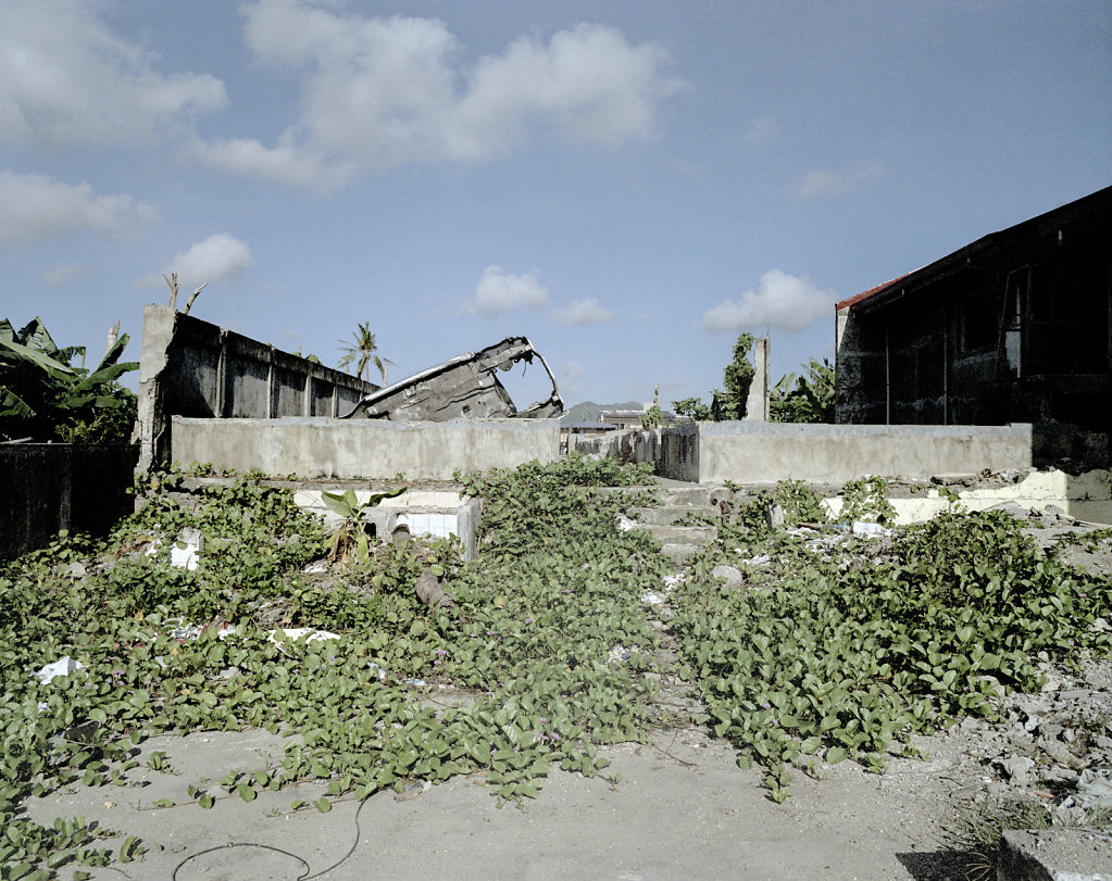 Shrimp Factory in Tacloban, located in the area which is referred to as Ground Zero. Concrete building was virtually razed to the ground when the tsunami swept over the coast.
