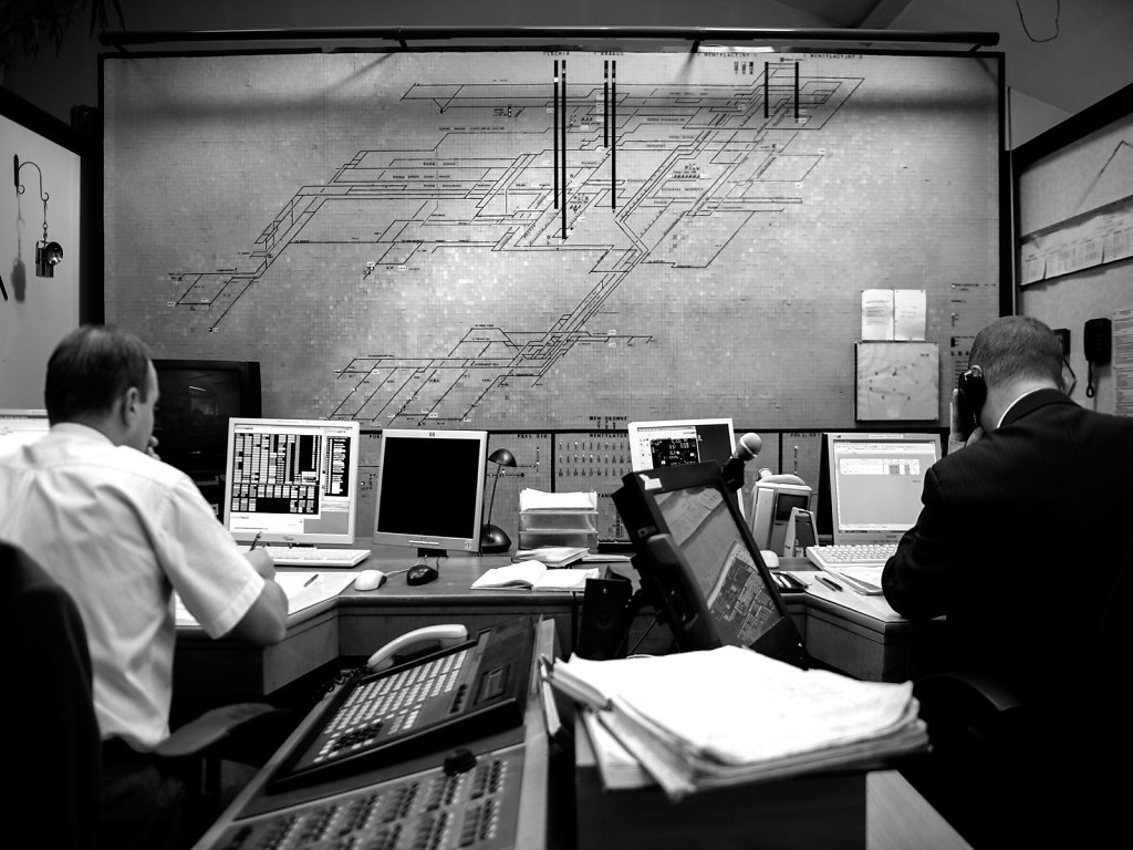Control room, above surface.
