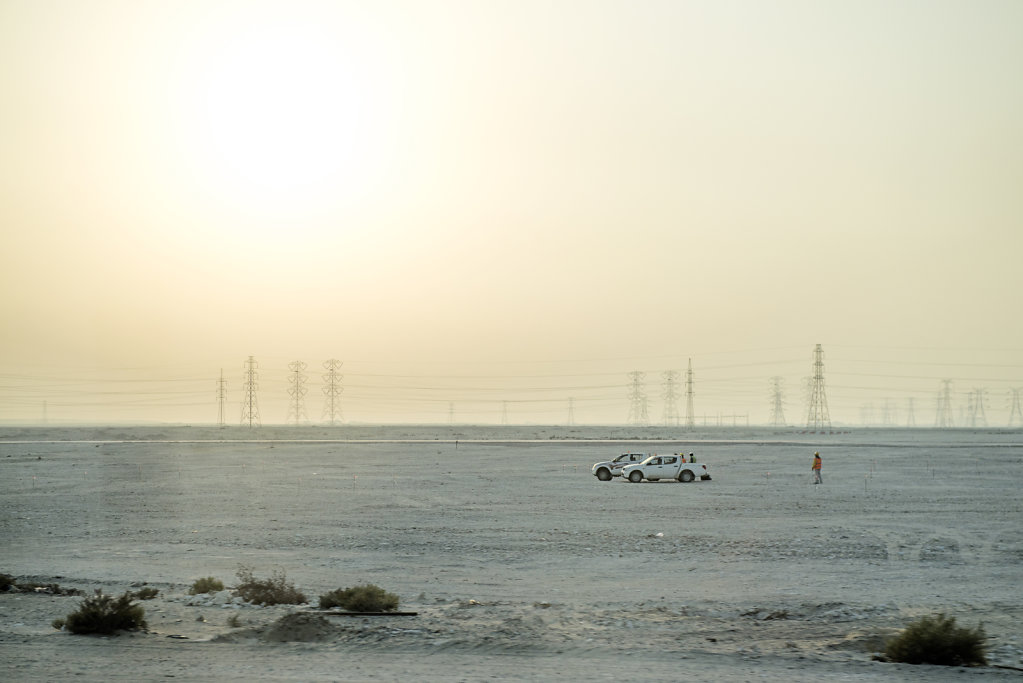 Preparing of new constructions, takes place all over Qatar
